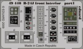 Eduard B-24J front interior (Revell)