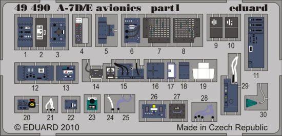 Eduard A-7D/E avionics (Hobby Boss)