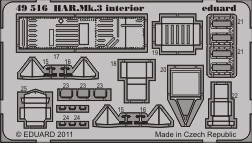 Eduard HAR. Mk.3 interior S.A. (Hasegawa)