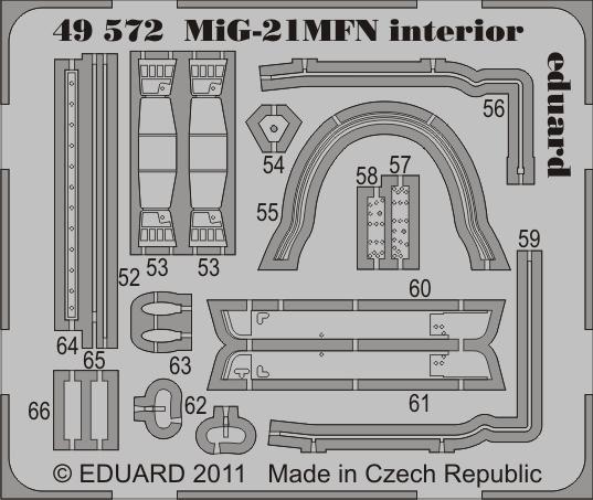 Eduard MiG-21MFN interior S.A. (Eduard)