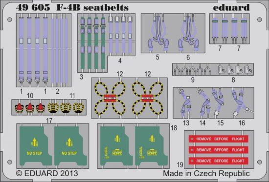 Eduard F-4B seatbelts (Academy)