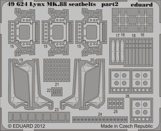 Eduard Lynx Mk.88 seatbelts (Airfix)