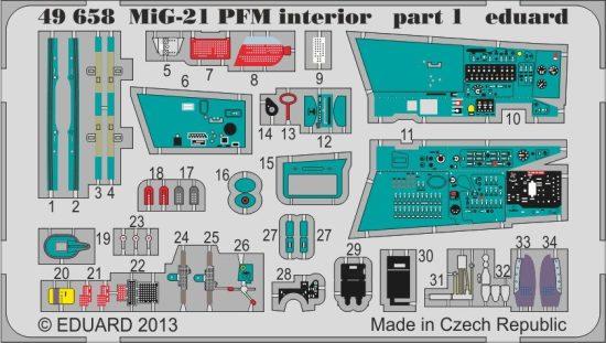 Eduard MiG-21PFM interior (Eduard)