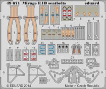 Eduard Mirage F.1B seatbelts (Kitty Hawk)