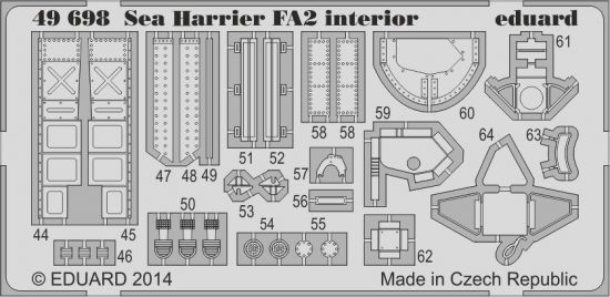 Eduard Sea Harrier FA2 interior S.A. (Kinetic)