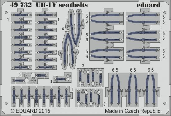 Eduard UH-1Y seatbelts (Kitty Hawk)