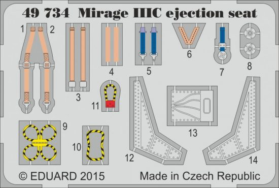 Eduard Mirage IIIC ejection seat (Eduard)