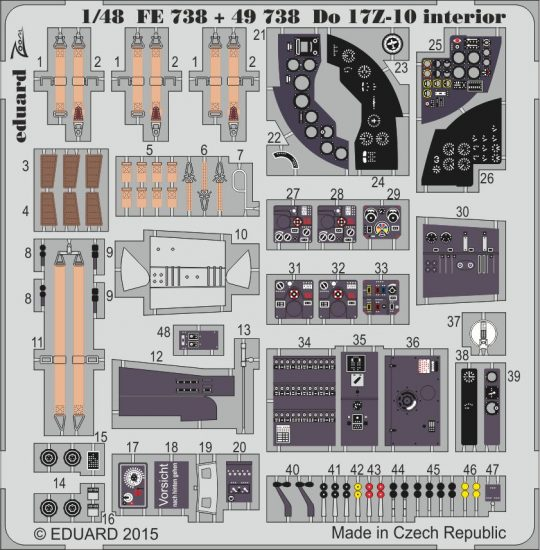 Eduard Do 17Z-10 interior (Icm)