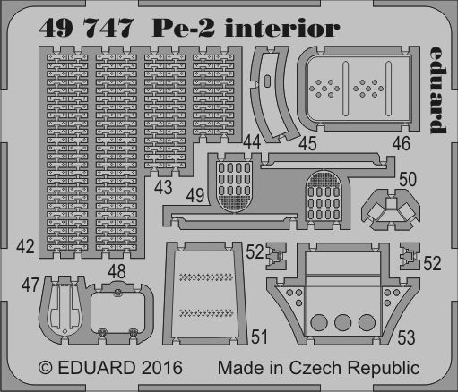 Eduard Pe-2 interior (Zvezda)