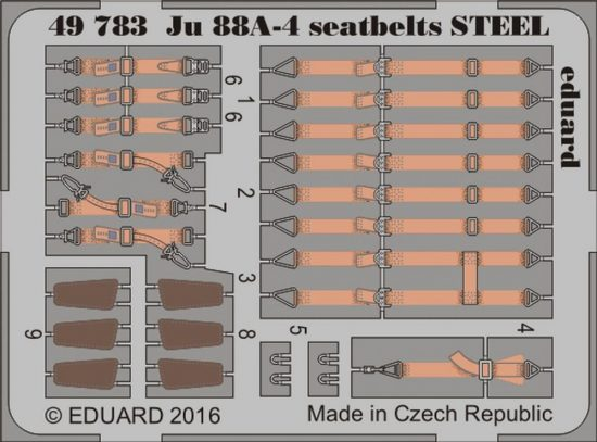 Eduard Ju 88A-4 seatbelts STEEL (ICM)