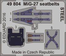 Eduard MiG-27 seatbelts STEEL (Trumpeter)