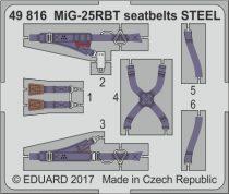 Eduard MiG-25RBT seatbelts STEEL (ICM)