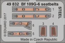 Eduard Bf 109G-6 seatbelts STEEL (Zvezda)