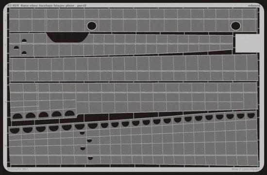 Eduard Gato class fuselage hinges plate (Revell)