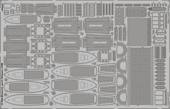 Eduard Bismarck part 1 - lifeboats (Trumpeter)