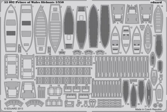 Eduard Prince of Wales lifeboats (Tamiya)