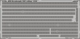 Eduard HMS Dreadnought 1907 railings (Trumpeter)