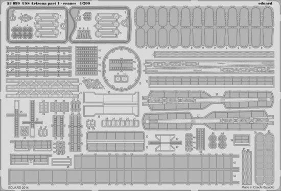 Eduard USS Arizona part 1-cranes (Trumpeter)