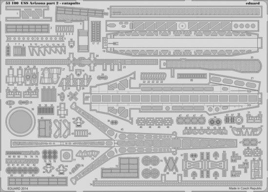 Eduard USS Arizona part 2-catapults (Trumpeter)