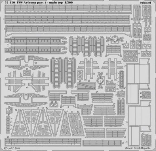 Eduard USS Arizona part 4 - main top (Trumpeter)