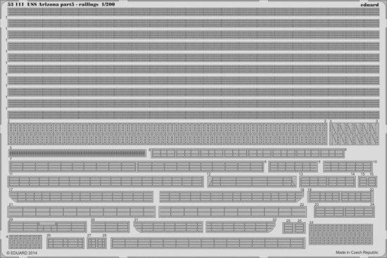 Eduard USS Arizona part 5 - railings (Trumpeter)