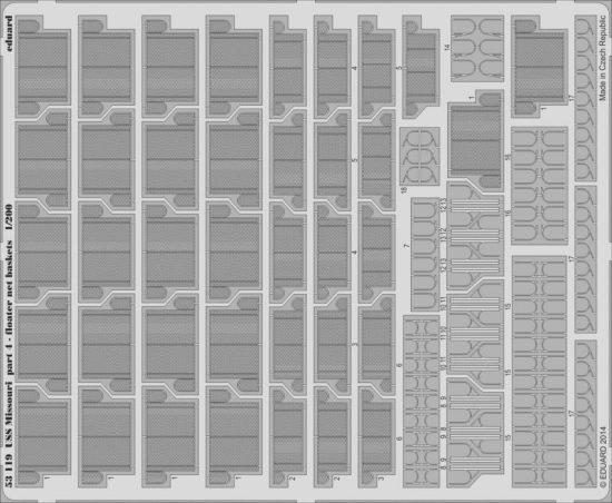 Eduard USS Missouri part 4 - floater net baskets (Trumpeter)