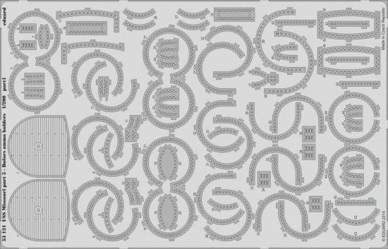 Eduard USS Missouri part 5 - Bofors ammo holders (Trumpeter)