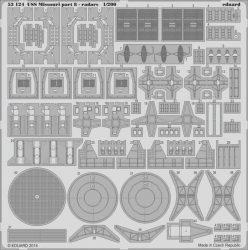 Eduard USS Missouri part 8 - radars (Trumpeter)