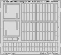 Eduard USS Missouri part 10 - hull plates (Trumpeter)
