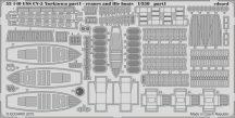 Eduard USS CV-5 Yorktown part 1 cranes & life boats (Merit)