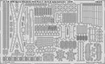 Eduard HMS Queen Elizabeth 1943 pt 5 - deck & main batteries (Trumpeter)