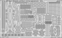 Eduard HMS Queen Elizabeth 1943 pt 5 - deck & main batteries (Trumpeter)