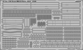 Eduard USS Texas BB-35 pt 4 deck (Trumpeter)