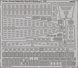Eduard German Submarine Type IX C/40 hull pt. 1 (Revell)