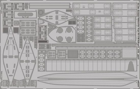 Eduard German Submarine Type IX C/40 hull pt. 2 (Revell)