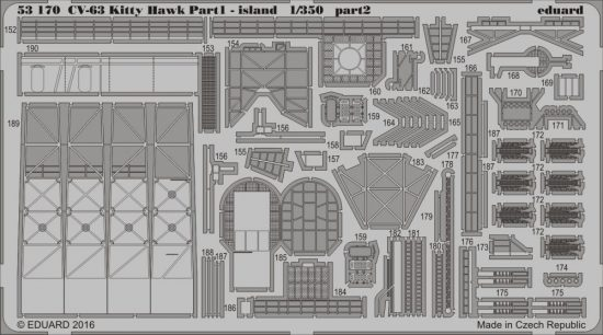 Eduard CV-63 Kitty Hawk pt.1 - island (Trumpeter)