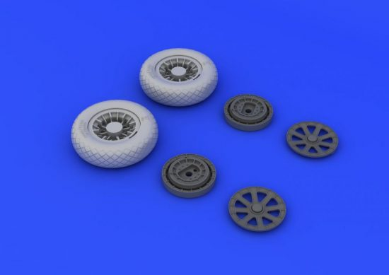 Eduard F4U-1 wheels diamond pattern (TAMIYA)