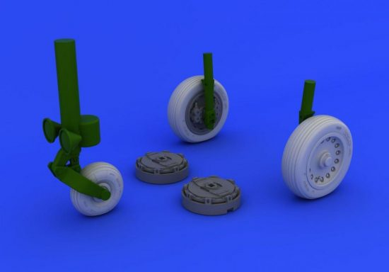 Eduard Mirage IIIc wheels (ITALERI)