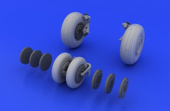 Eduard MiG-29 wheels (ACADEMY/EDUARD)