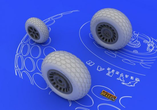 Eduard P-61 wheels (GREAT WALL HOBBY)