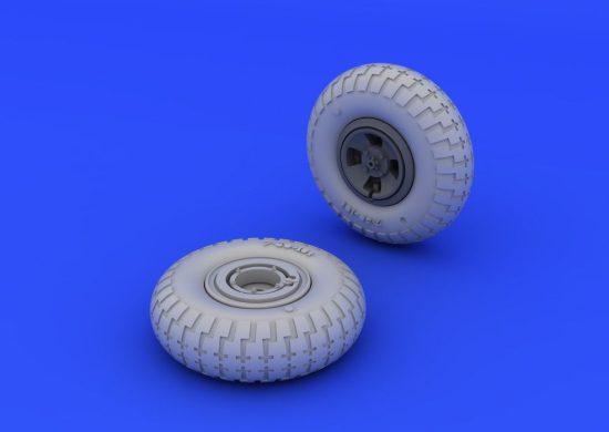 Eduard Spitfire wheels - 4 spoke w/pattern (EDUARD)