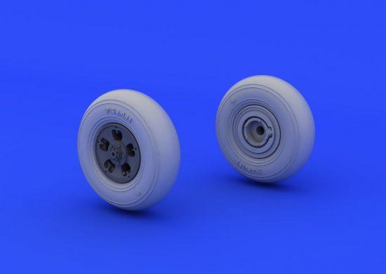 Eduard Spitfire wheels - 5 spoke, smooth tire (EDUARD)