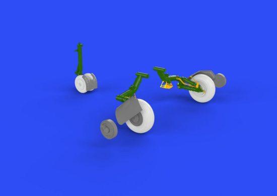 Eduard MiG-23BN wheels (Trumpeter)