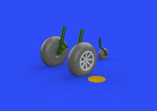 Eduard P-40B wheels (Airfix)