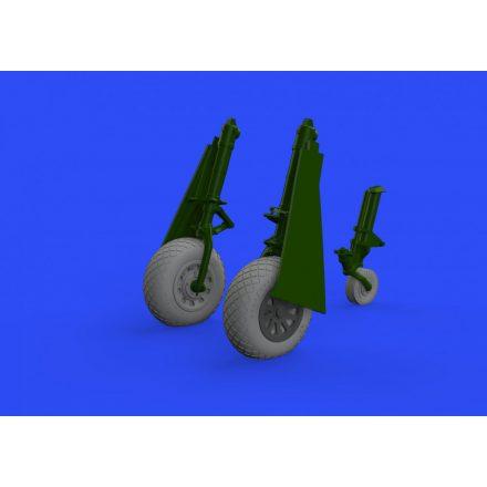Eduard P-51D wheels diamond tread 2 (Eduard)