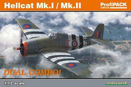 Eduard Hellcat Mk.I/MK.II Dual Combo Profi PACK makett