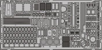 Eduard Nimrod exterior and surface panels (Airfix)