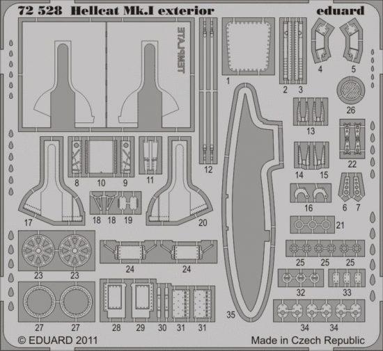 Eduard Hellcat Mk.I exterior (Eduard)