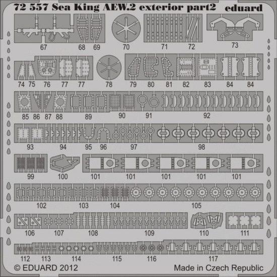 Eduard Sea King AEW.2 exterior (Cyber Hobby)