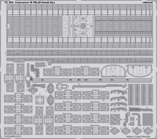 Eduard Lancaster B Mk.II bomb bay (Airfix)